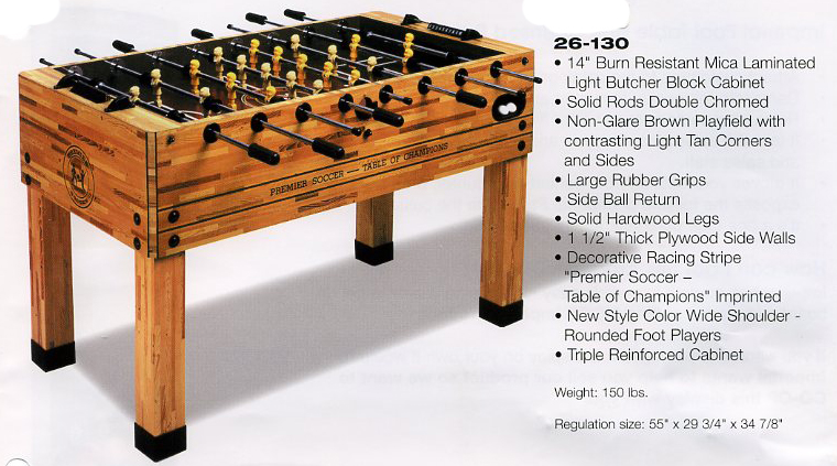 Regulation Foosball Table Size - Bing images